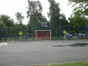 Picture shows the multi use games area