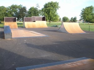 Picture shows the skate park
