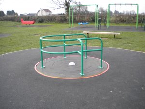 Picture shows the play equipment at the recreation ground