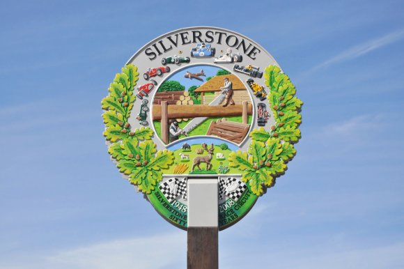 Silverstone sign.