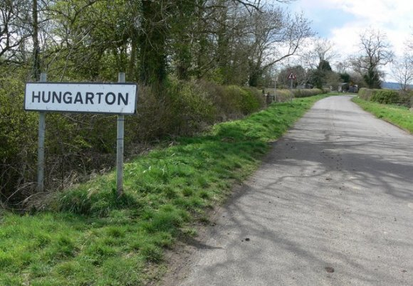 Hungarton Road Sign