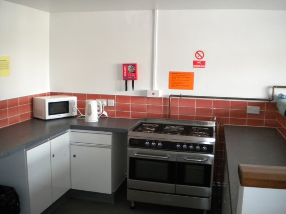 A picture of the oven in the main kitchen