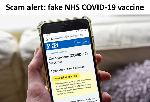 Trading Standards Alert – Covid-19 vaccine scam text
